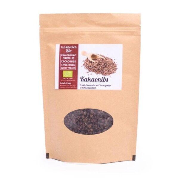 Kakaonibs mit Yaconsirup - Bio und Rohkostqualität