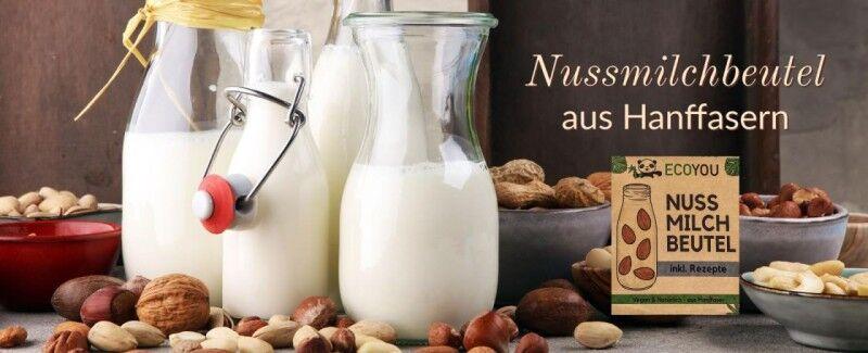 Nussmilchbeutel aus Hanffasern