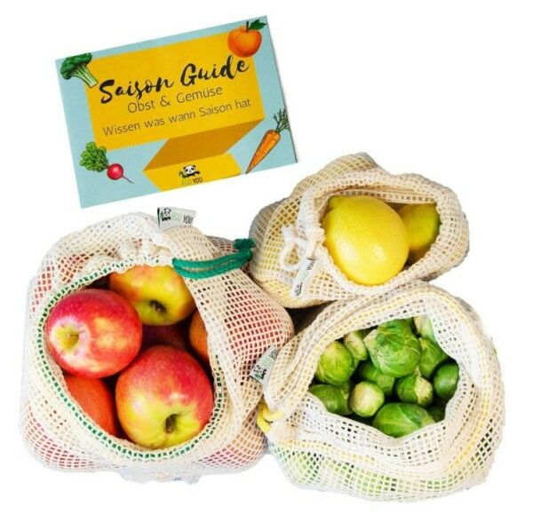 Obst- und Gemüsenetze 3er-Set