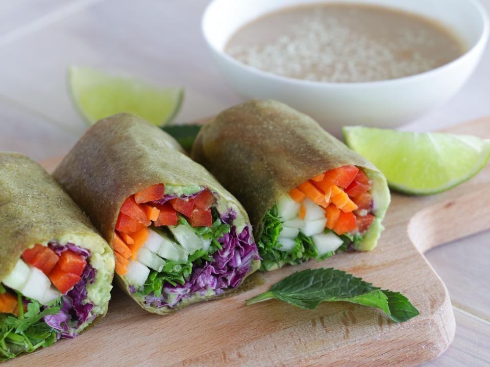 Rezept: 5 Minuten Veggie Kokosnuss Wraps