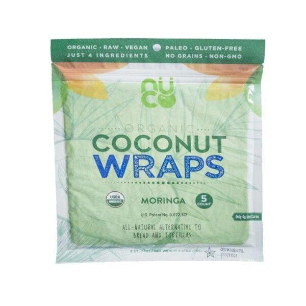 Bio Kokosnuss Wraps - Moringa - in Rohkostqualität