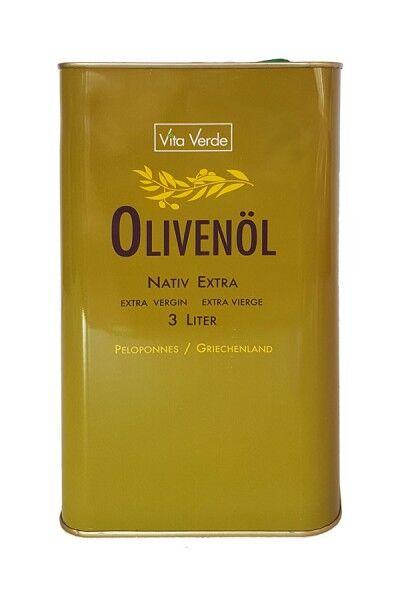 Bio Olivenöl - Nativ Extra - Vita Verde - 3 Liter