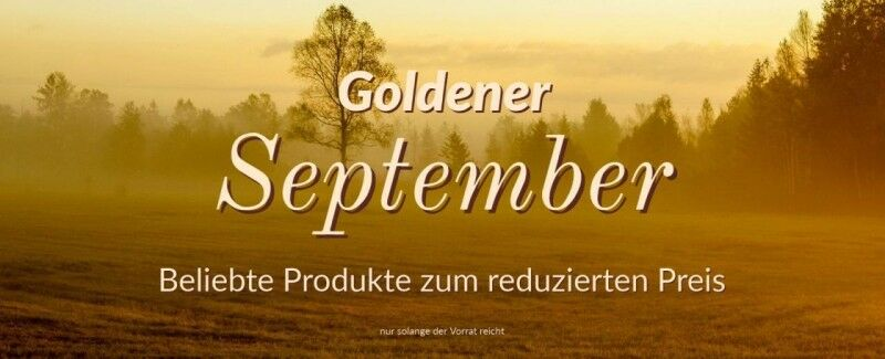 Goldener September Angebot