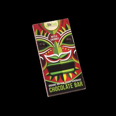 Lifefood Schokolade - Kirsche & Nuss - Bio und Rohkostqualität