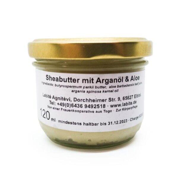 Sheabutter mit Arganöl & Aloe