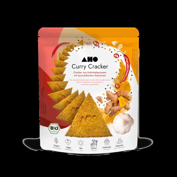 AHO Curry Cracker 2.0 - Bio und Roh - 100g