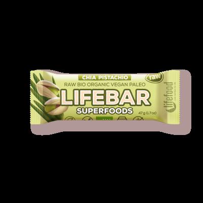 Lifebar Plus - Chia + Pistazie - Bio und Rohkostriegel