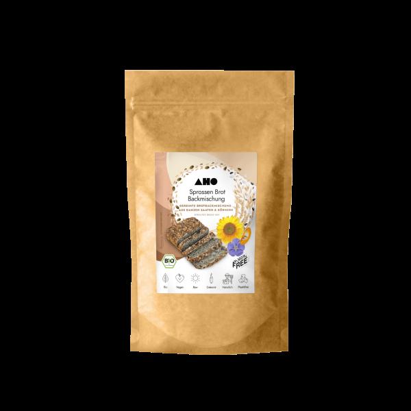 AHO Sprossen Brot Backmischung - Bio und Roh