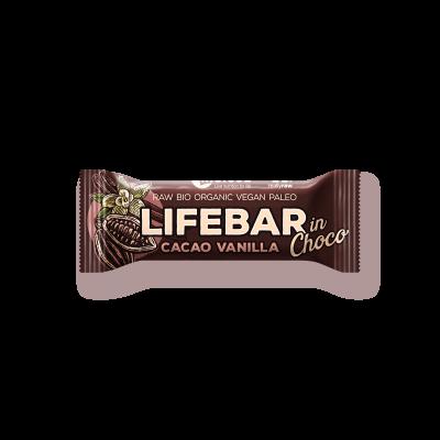 Lifebar InChoco - Kakao Nibs Vanille - Bio und Rohkostriegel