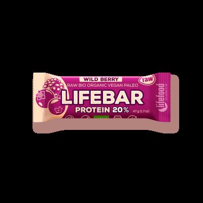 Lifebar Waldbeere - Protein Bio und Rohkostriegel