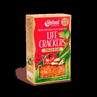 Life Crackers - Tomate-Sellerie - Bio und Rohkostqualität